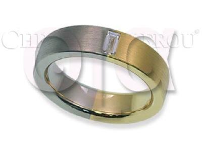 Βέρα 5 σε λευκό και κίτρινο χρυσο σε 18 καράτια με διαμάντι 0644ef698a5